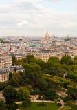 Vue panoramique de Tour Eiffel image stock