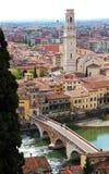 Vue panoramique de Vérone, Italie Image stock