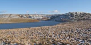 Vue panoramique de vallée d'allant, Rhayader, Powys Photos libres de droits