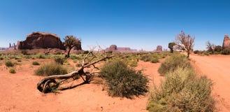 Vue panoramique de vallée de monument, Utah, Etats-Unis Photo libre de droits