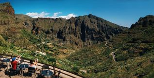 Vue panoramique de vallée de Masca Image stock
