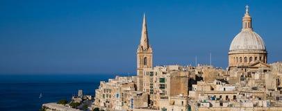 Vue panoramique de Valletta images stock