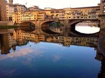 Vue panoramique de vecchio de Ponte, Florence Photo stock