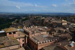 Vue panoramique de vieille ville de Sienne, Toscane, Italie Image libre de droits