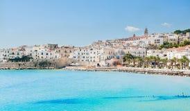 Vue panoramique de Vieste photographie stock libre de droits