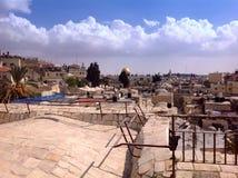 Vue panoramique de vieux murs, Jérusalem Images libres de droits