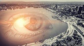 Vue panoramique de ville illustration de vecteur