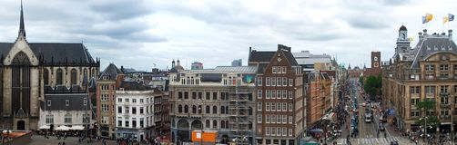 Vue panoramique de ville d'Amsterdam, Pays-Bas photos stock