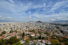 Vue panoramique de ville d'Athènes Photo stock