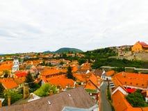 Vue panoramique de ville d'Eger en Hongrie Image libre de droits