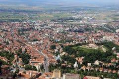 Vue panoramique de ville de Brasov Photographie stock libre de droits