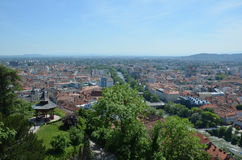 Vue panoramique de ville de Graz, Autriche Photo libre de droits