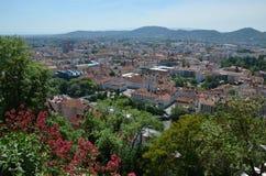 Vue panoramique de ville de Graz, Autriche Image libre de droits