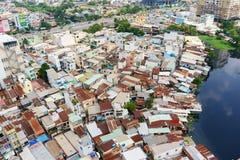 Vue panoramique de ville de Ho Chi Minh, Vietnam photographie stock libre de droits