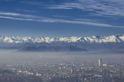 Vue panoramique de ville de Turin Image libre de droits