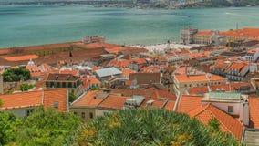 Vue panoramique de ville et de Tage de Lisbonne clips vidéos