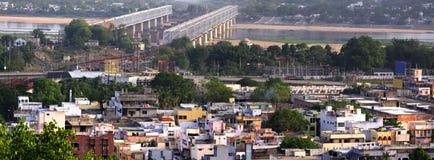 Vue panoramique de ville indienne du sud Images libres de droits