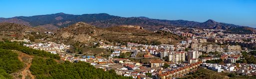 Vue panoramique de ville de Malaga, Espagne photos stock