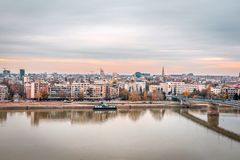 Vue panoramique de ville de Novi Sad photo stock
