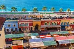 Vue panoramique de Villefranche-sur-Mer, la Côte d'Azur agréable et photos libres de droits