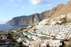 Vue panoramique de visibilité directe Gigantes, Ténérife photos stock