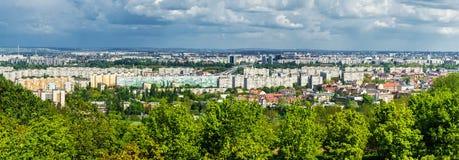 Vue panoramique de voisinage à Budapest Image libre de droits