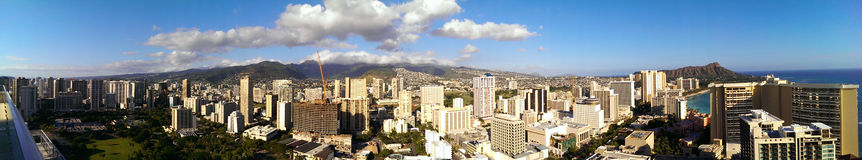 VUE PANORAMIQUE DE WAIKIKI Photo stock