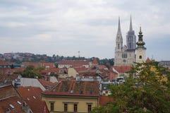 Vue panoramique de Zagreb Photos libres de droits