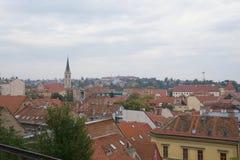 Vue panoramique de Zagreb Photographie stock