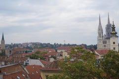 Vue panoramique de Zagreb Images libres de droits