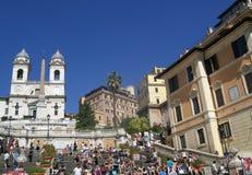 Touriste aux étapes espagnoles Image libre de droits