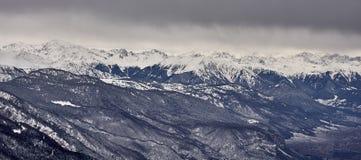 Vue panoramique des Alpes Italie Image stock