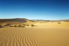 Vue panoramique des dunes de sable Photographie stock