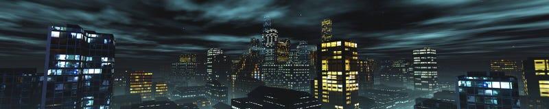 Vue panoramique des gratte-ciel illustration de vecteur