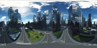 Vue panoramique des gratte-ciel illustration libre de droits