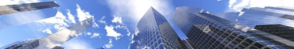 Vue panoramique des gratte-ciel illustration stock