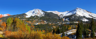 Vue panoramique des montagnes de Hayden Photographie stock