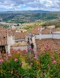 Vue panoramique des murs de Morella Images stock