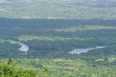 Vue panoramique des terrazas de las, Pinar del Rio, Cuba Image libre de droits