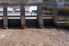 Vue panoramique du barrage dans Mengibar Image libre de droits