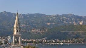 Vue panoramique du Budva la Riviera Images libres de droits