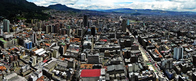 Vue panoramique du centre de Bogota, Colombie Images stock