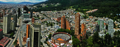 Vue panoramique du centre de Bogota, Colombie Images libres de droits