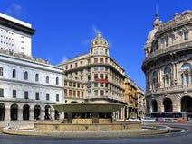 Vue panoramique du centre de la ville de Gênes, capitale de la Ligurie p Photo libre de droits