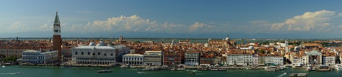 Vue panoramique du centre de Venise image stock