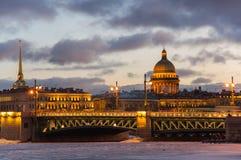Vue panoramique du centre historique du St Petersbourg Image stock