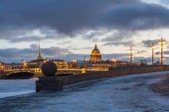 Vue panoramique du centre historique du St Petersbourg Photos libres de droits