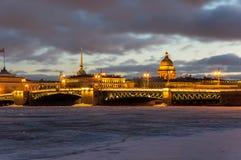 Vue panoramique du centre historique du St Petersbourg Image libre de droits