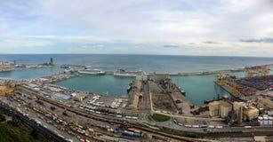 Vue panoramique du château de Montjuïc Photographie stock