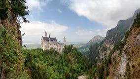 Vue panoramique du château de Neuschwanstein photographie stock libre de droits
